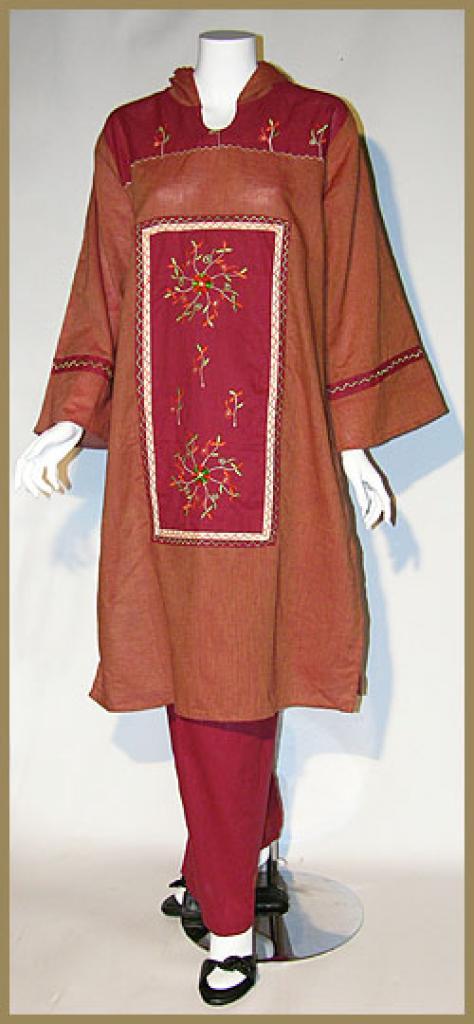 Embroidered hooded cotton Salwar Kameez sk973