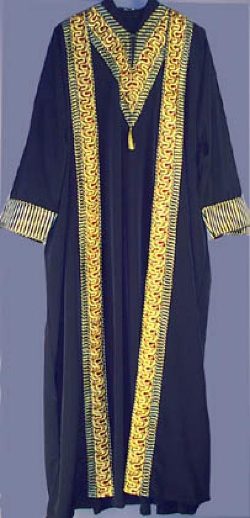Syrian Embroidered Two Piece Abaya Thobe Set sr129