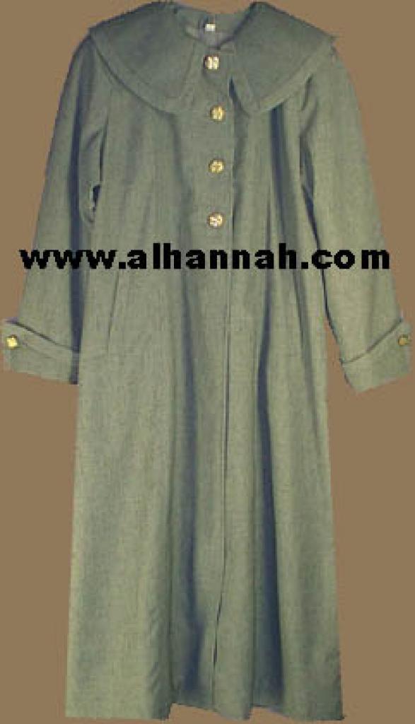 Jilbab - Lined Syrian Coat Style 400