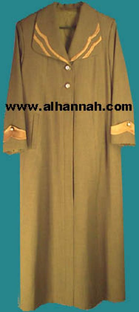 Jilbab - Lined Syrian Coat Style 402