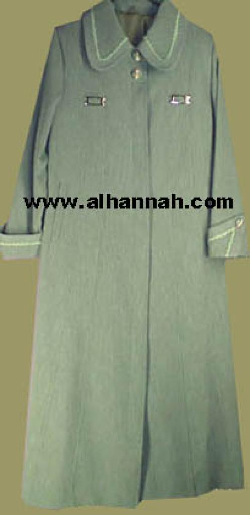 Jilbab - Lined Syrian Coat Style 403