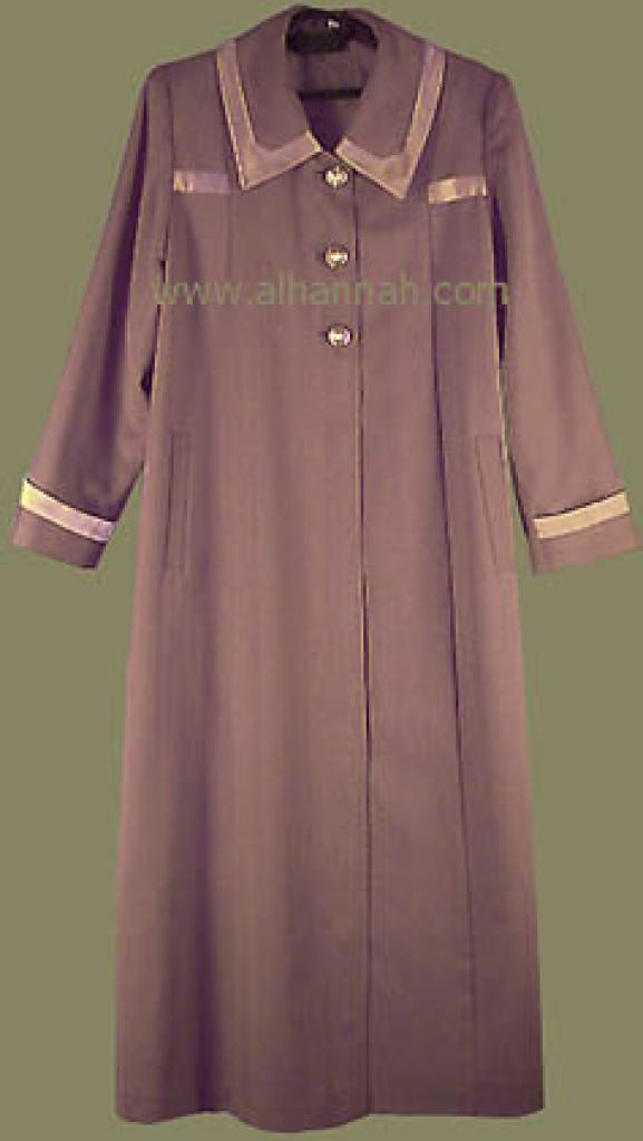 Jilbab - Lined Syrian Coat Style