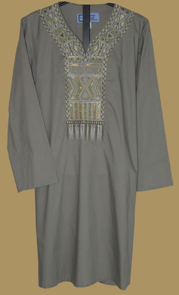 Premium Quality Embroidered Cotton Blend Tunic Top st519