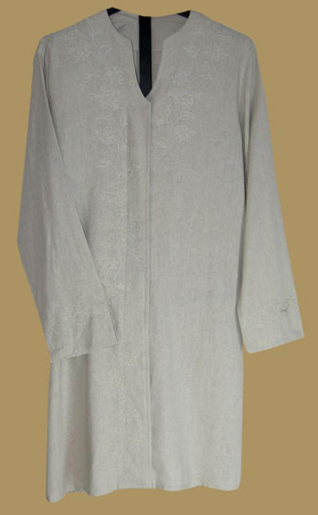 Premium Quality Embroidered Cotton Blend Tunic Top st520