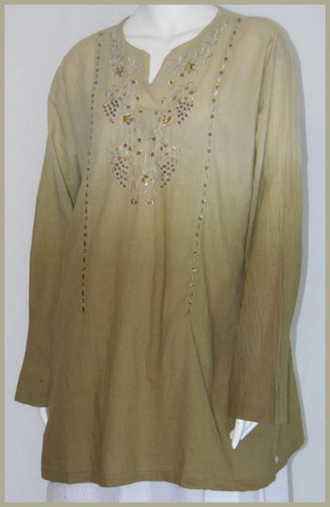 Embroidered Cotton Kurta Tunic Top st530