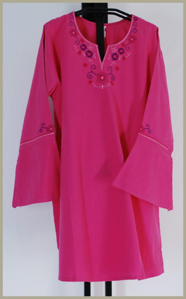 100% Cotton Embroidered Tunic Top st531