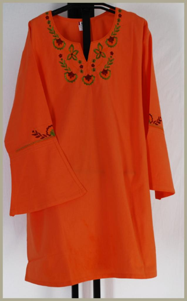 100% Cotton Embroidered Tunic Top st532