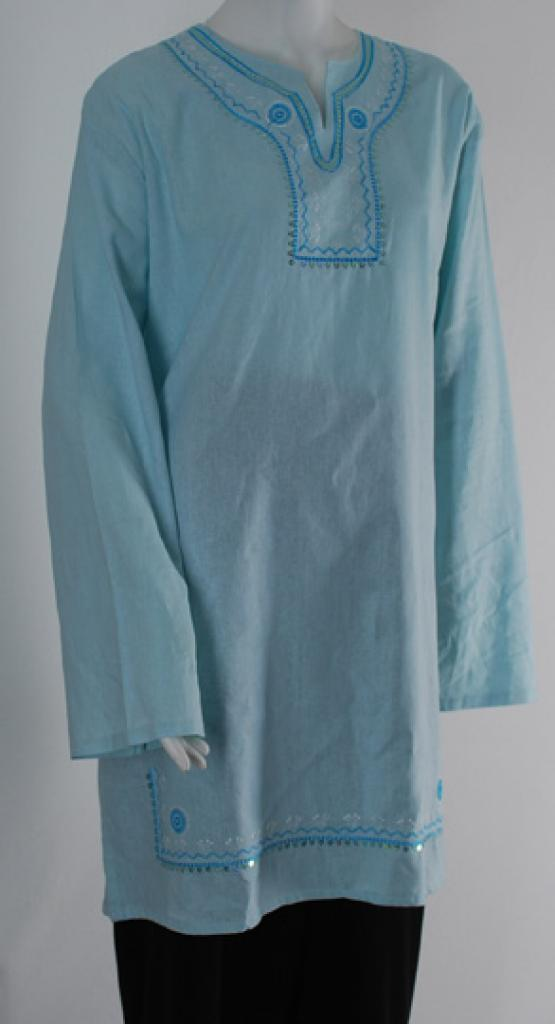 Embroidered Tunic Top st538