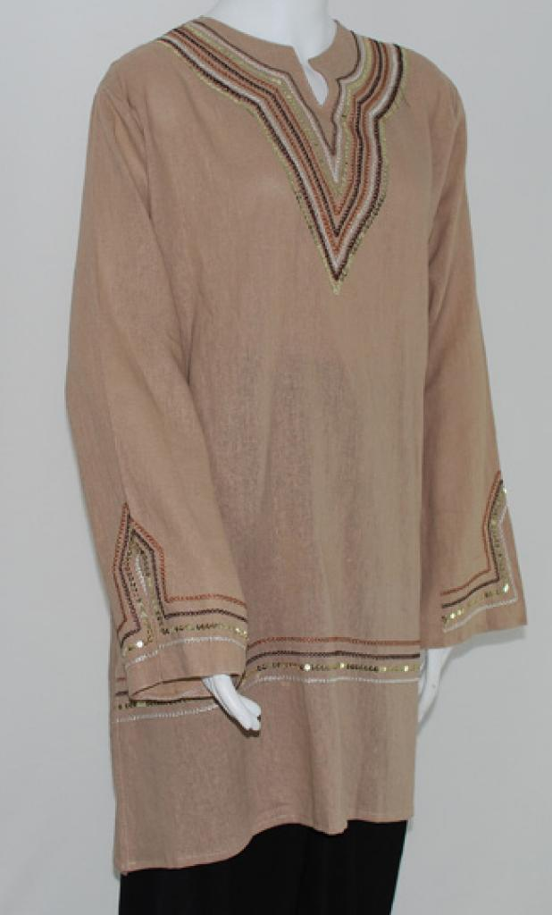Embroidered Tunic Top st539