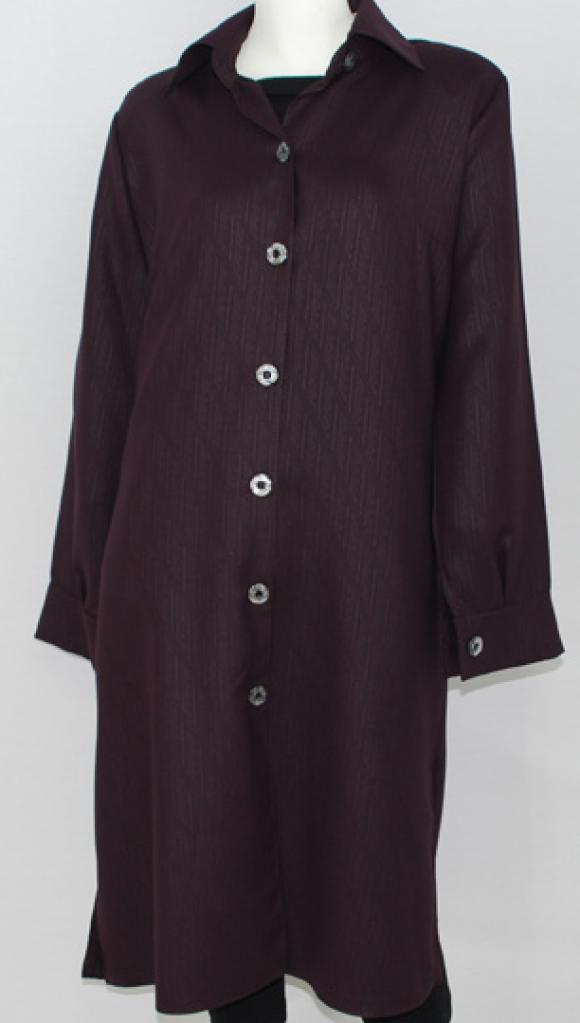 Al Karam Striped Jacquard Tunic Shirt   st554
