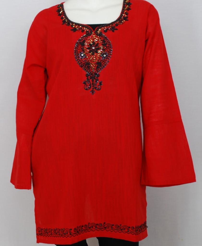 Paisley Floral Cotton Tunic Top  st560