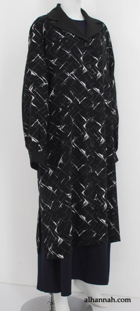 Al Karam Contrast Print Long Tunic  st584