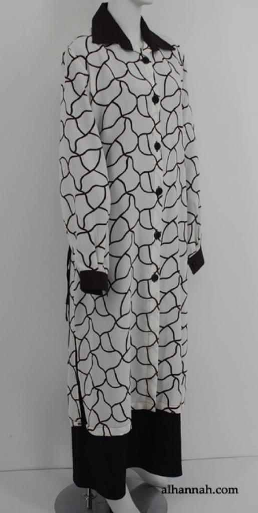 Al Karam Contrast Print Long Tunic st586