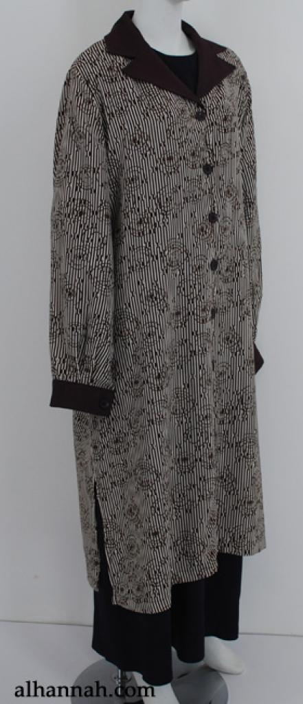 Al Karam Contrast Print Long Tunic st587