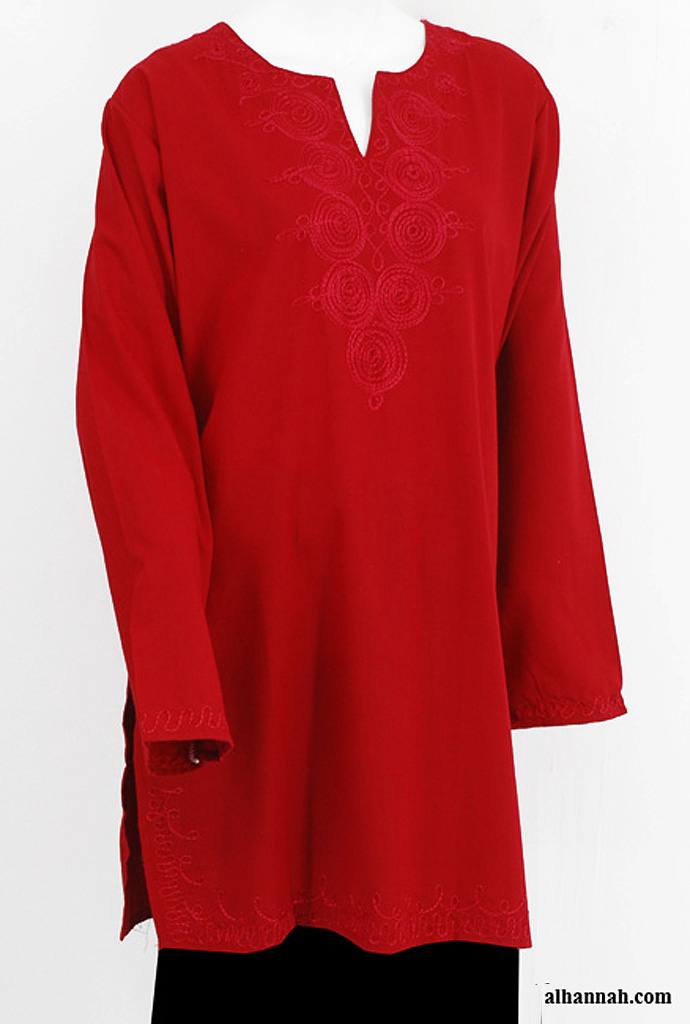Embroidered Tunic Top st590
