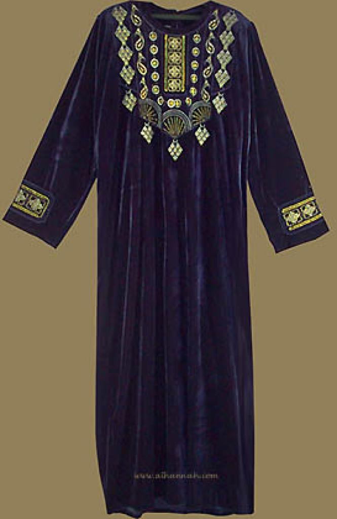 Bedouin Style Embroidered Thobe th509