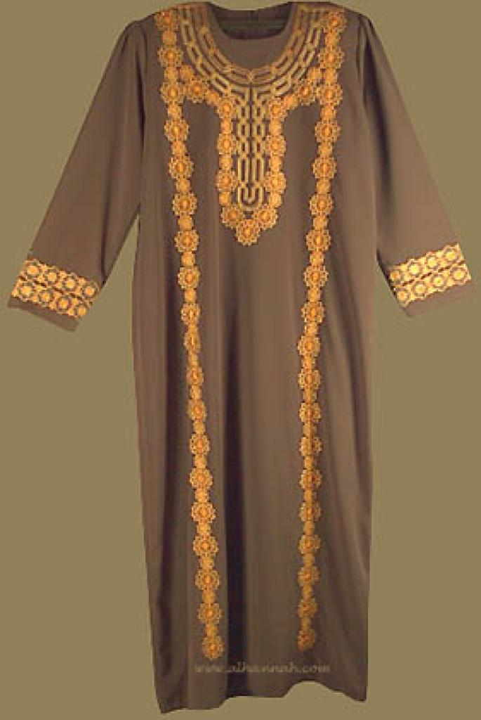 Embroidered Bedouin Style Thobe th512