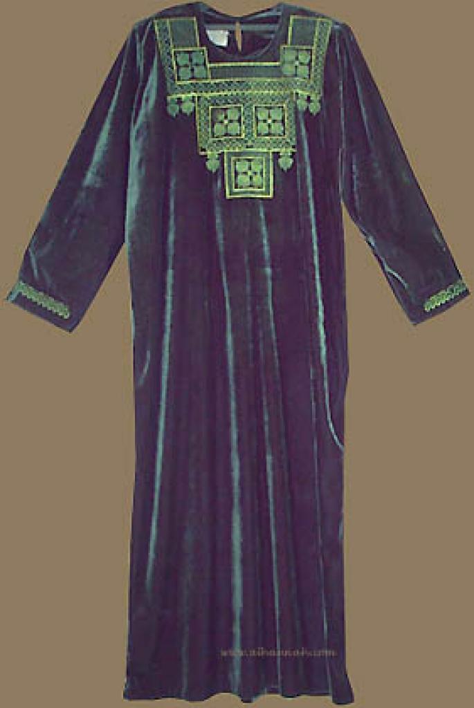 Bedouin Style Velveteen Thobe th514