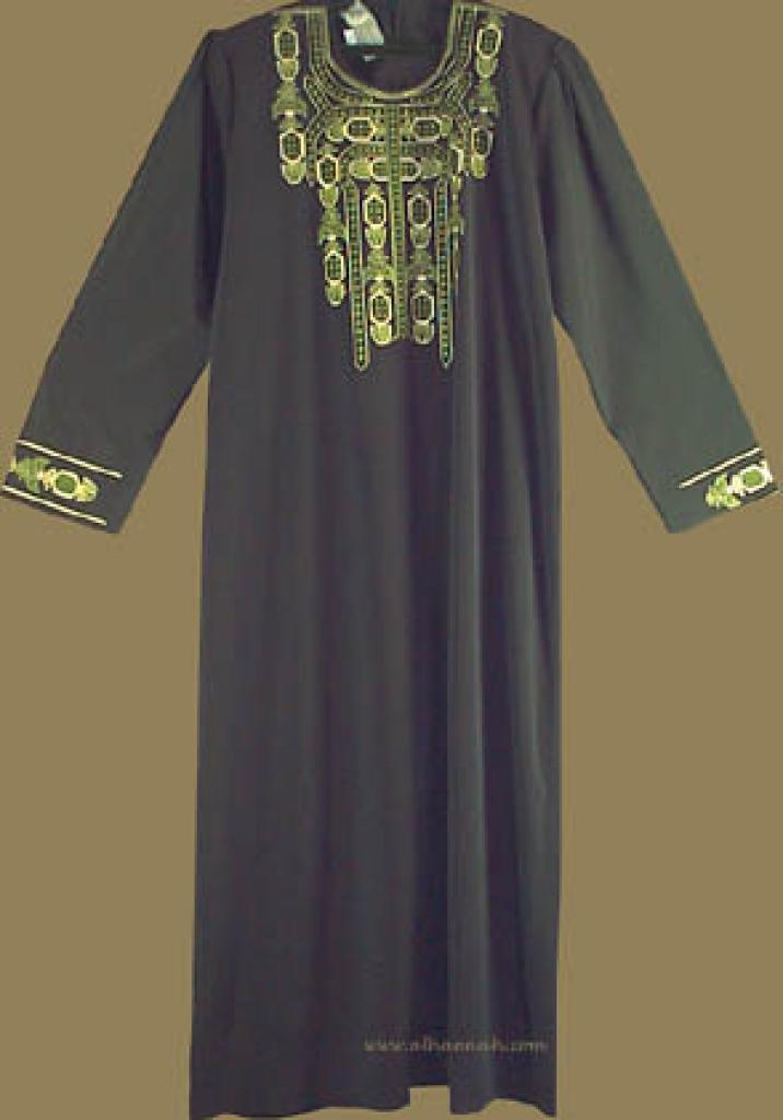 Embroidered Bedouin Style Thobe   th516