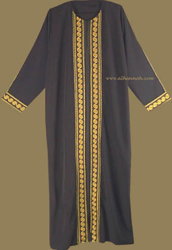 Classic Embroidered Middle Eastern Thobe  th526