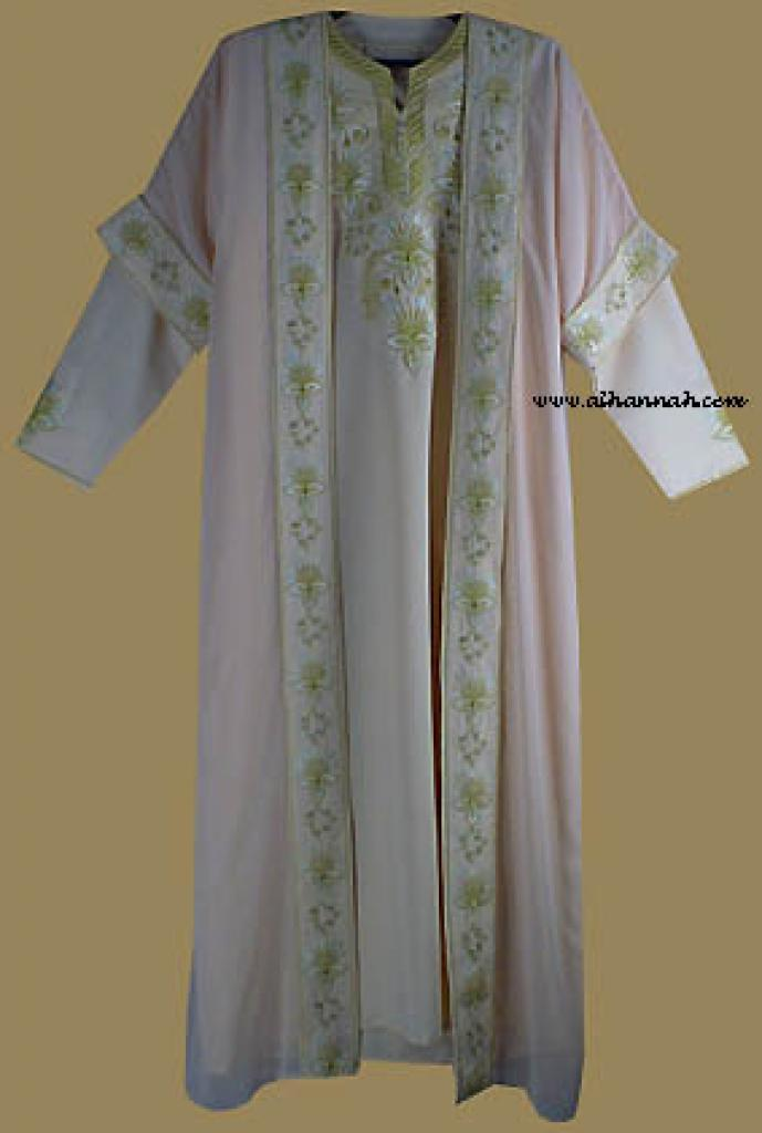 Islamic Wedding Dress and Matching Abaya th536