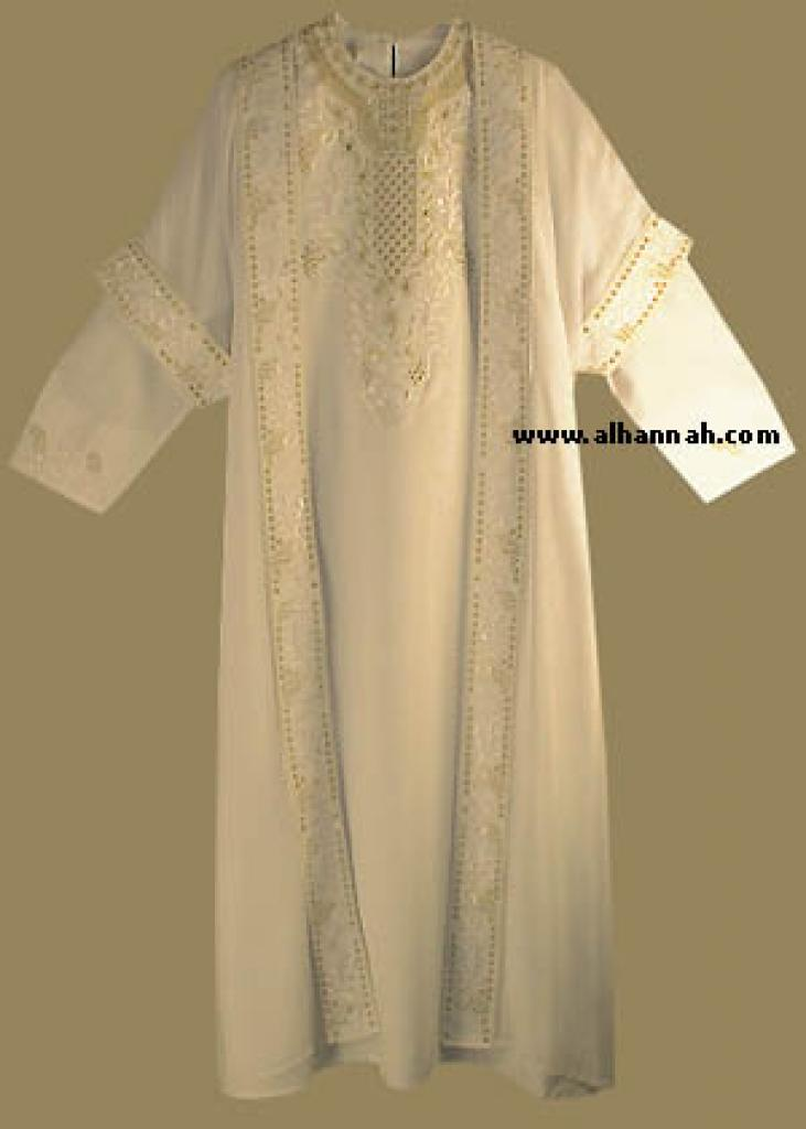 Islamic Wedding Dress and Matching Abaya th537