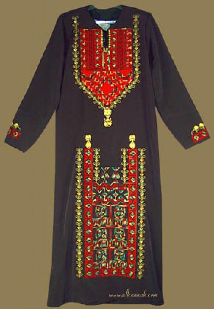 Embroidered Bedouin Style Thobe  th538