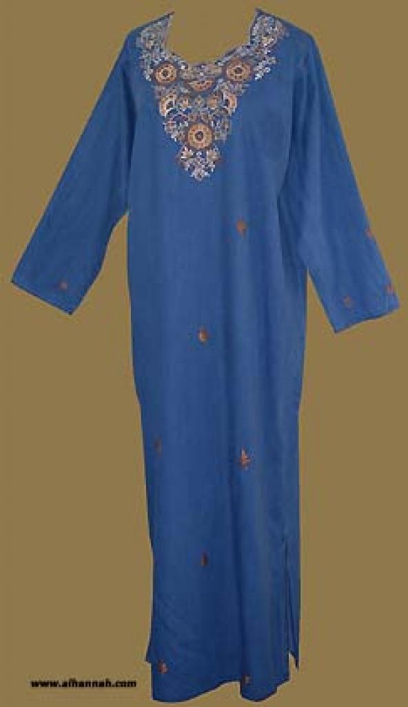 Arabian Embroidered Denim Thobe   th555