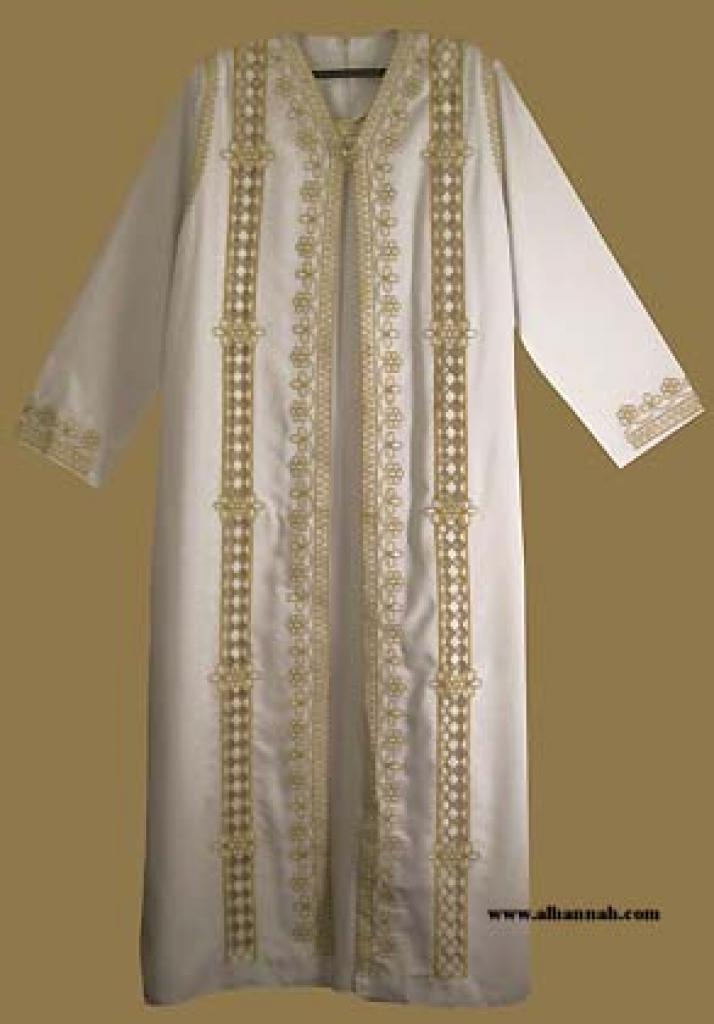 Classic Arabian wedding dress and Matching Abaya. th564