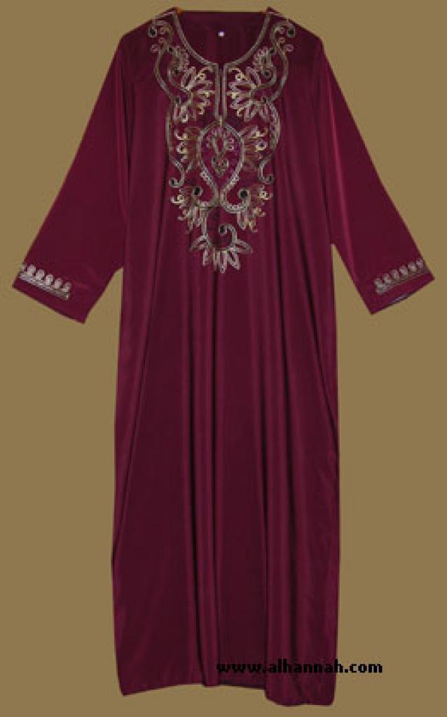 Embroidered Arabian Thobe th579