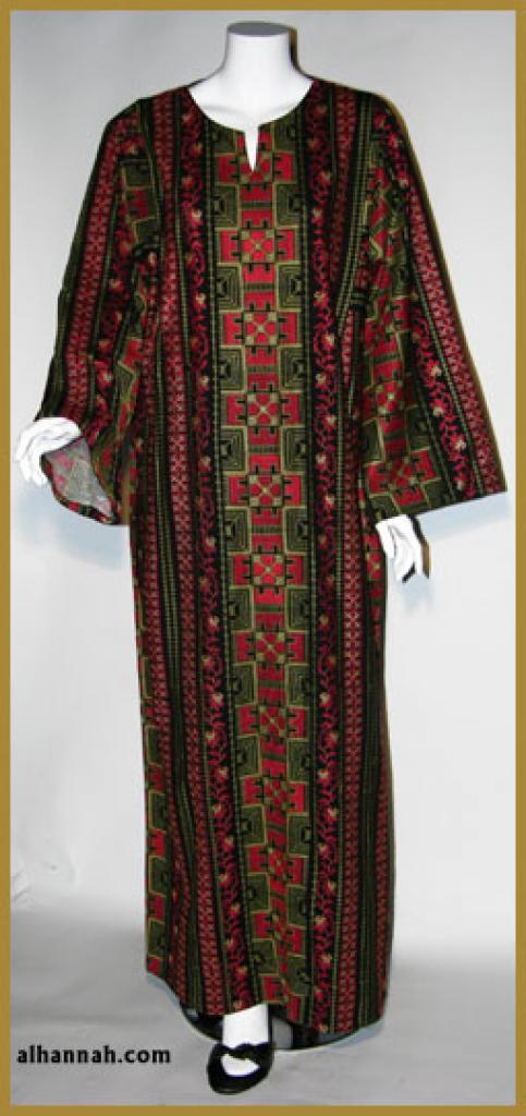 Embroidered Jordanian Thobe  th605