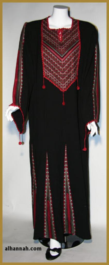 Embroidered Jordanian Thobe  th608