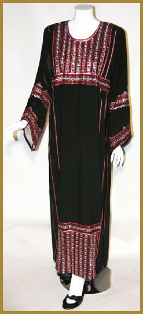 Traditional Saudi pull-over Thobe with Crystal accents th611