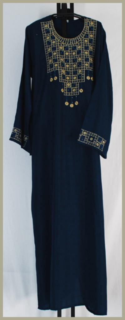 Traditional Embroidered Saudi pull-over Thobe th634