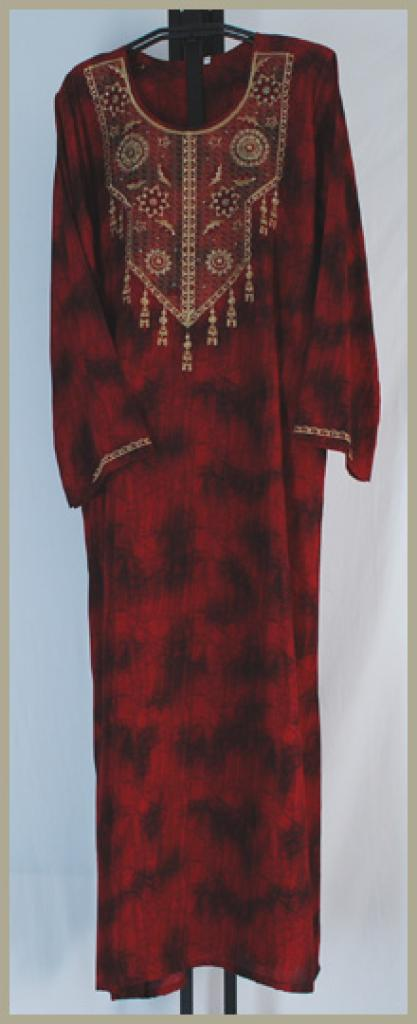 Traditional Embroidered Saudi pull-over Thobe th638