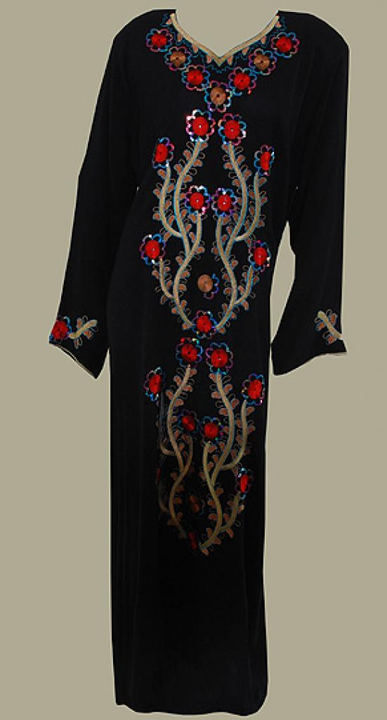 Traditional Embroidered Saudi pull-over Thobe th643