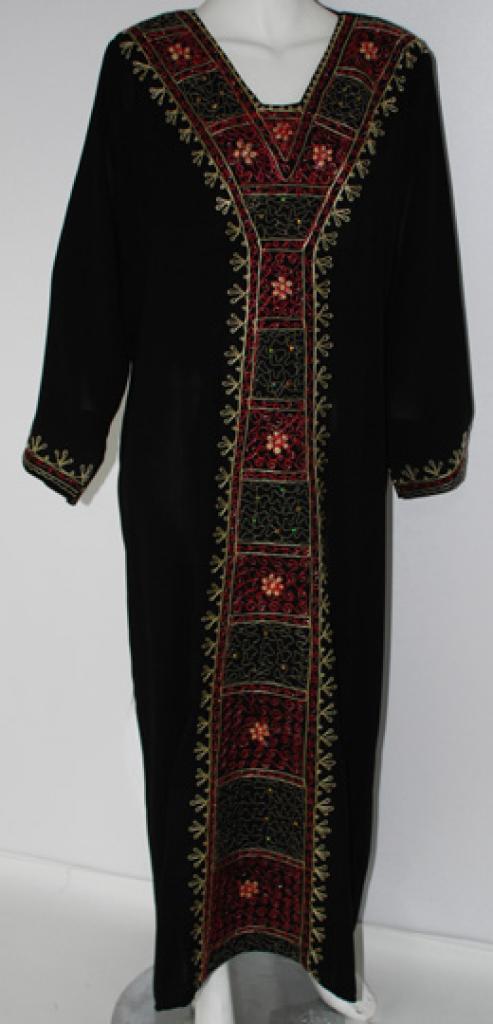 Multitone Floral Embroidered Yemeni Thobe th677