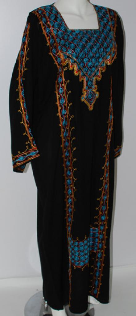 Spiral Diamonds Embroidered Yemeni Thobe th680