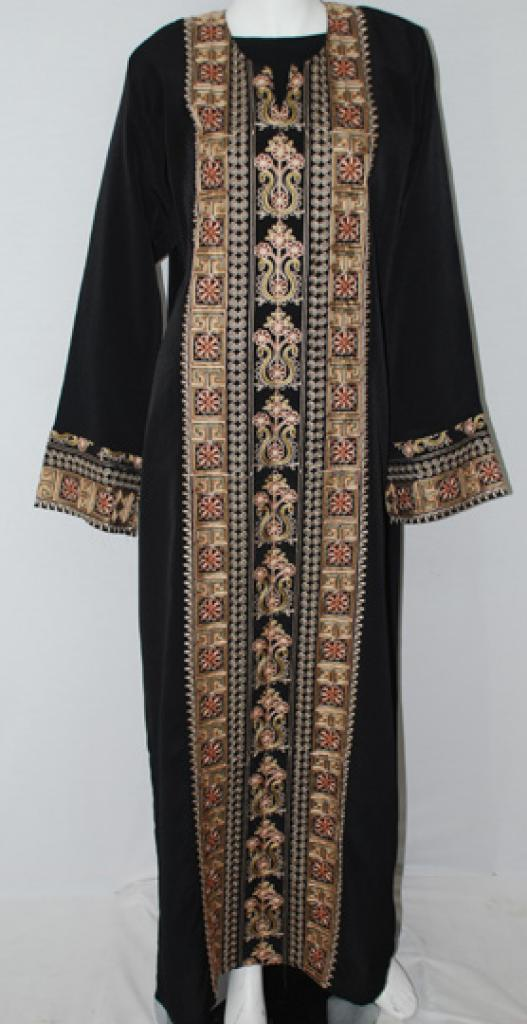 Traditional Embroidered Jordanian pull-over Thobe  th693