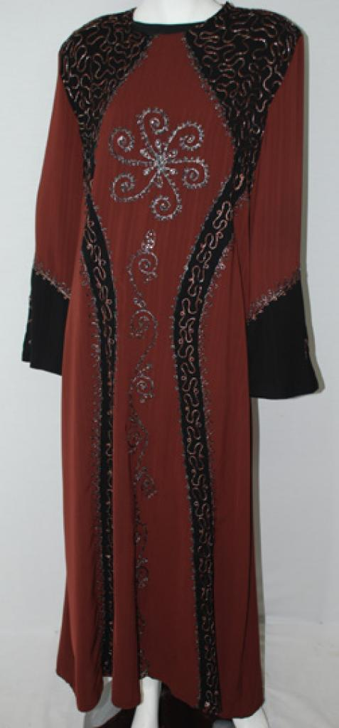 Traditional Embroidered Jordanian pull-over Thobe  th694