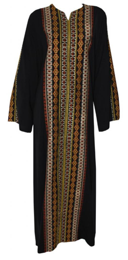 Traditional Embroidered Jordanian pull-over Thobe th701