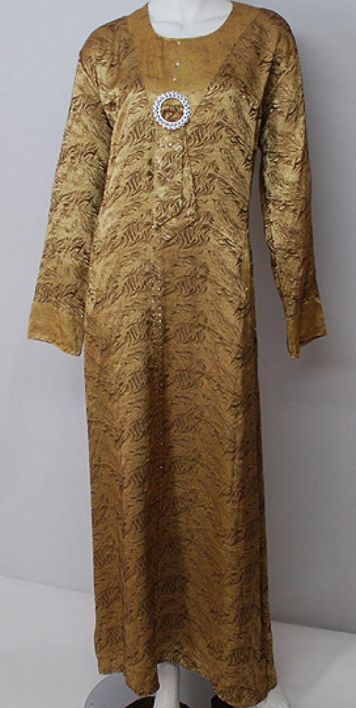 Traditional Egyptian Abaya with Satin Accents  th706