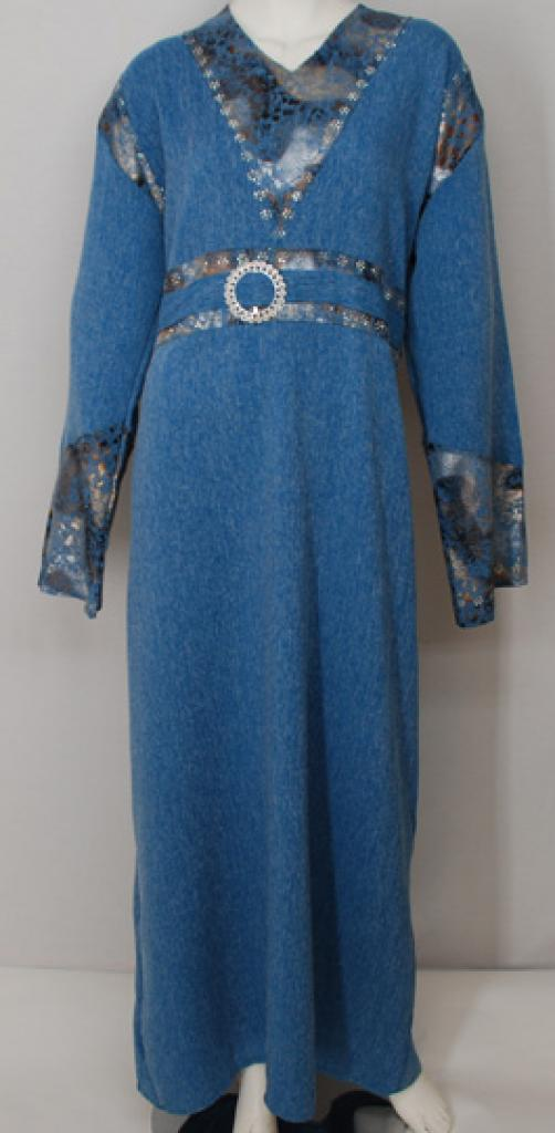 Traditional Egyptian Abaya with Satin Accents  th707
