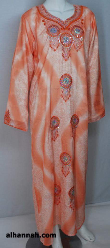 Embroidered Chiffon Saudi Thobe th721