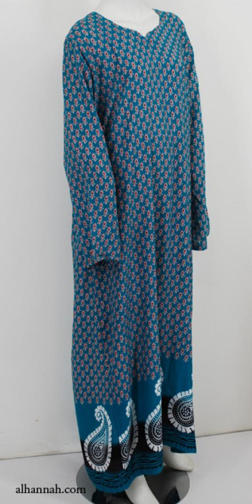 Womens Printed Cotton Dishdasha th736