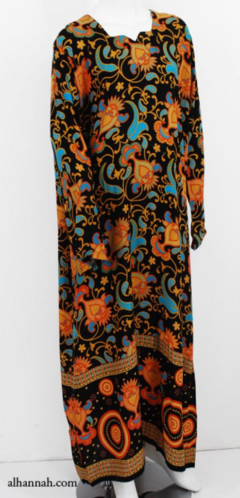 Womens Printed Cotton Dishdasha th737