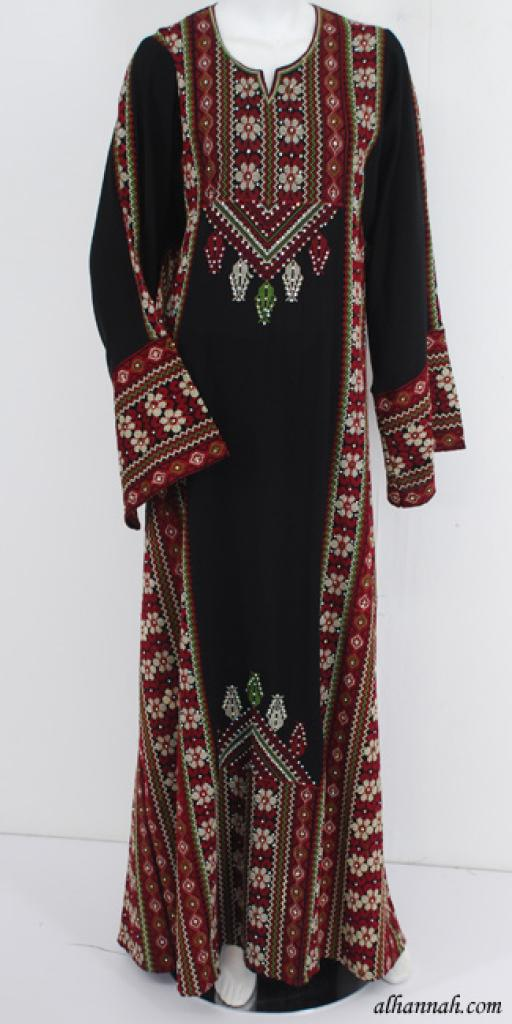 Deluxe Embroidered Palestinian Fellaha Dress th743