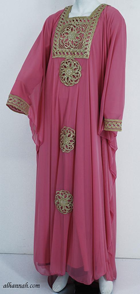 Chiffon Embroidered Saudi Abaya th747