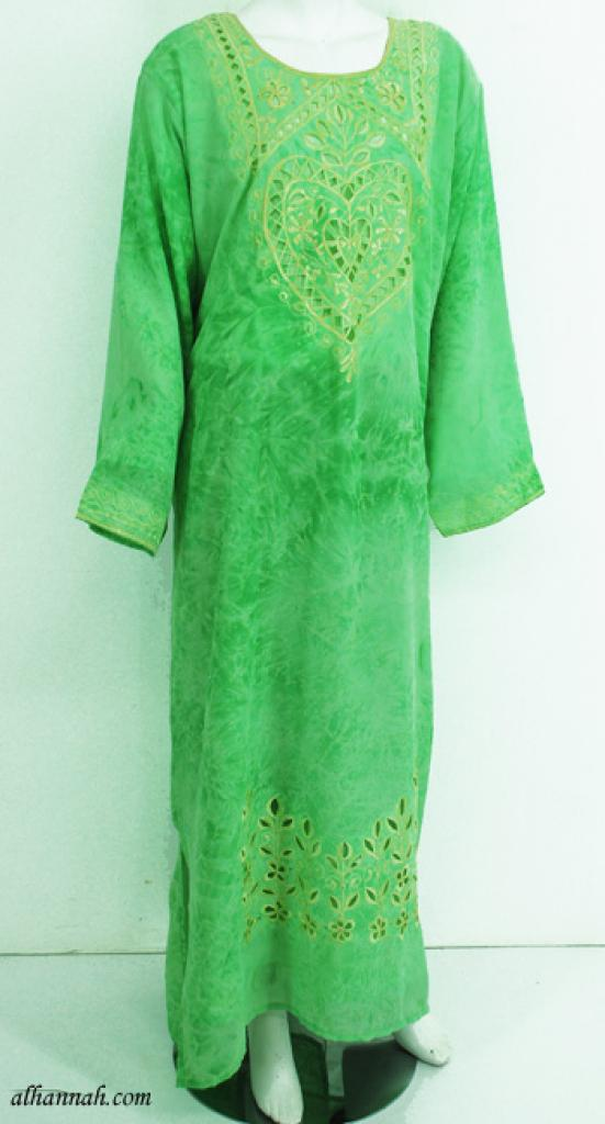 Chiffon Embroidered Saudi Abaya th748