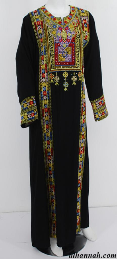 Deluxe Embroidered Palestinian Fellaha Dress th749